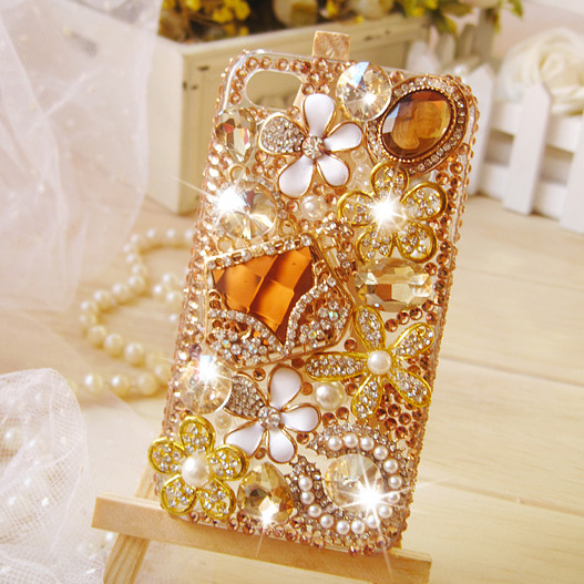 pick up eea95 711e4 Swarovski Crystal IPhone 6s Case-Sparkly IPhone 6 Plus Case-Gems Flowers  Cute Shiny IPhone 5s Case IPhone 6s Plus Custom IPhone 4/4s Covers Samsung  ...