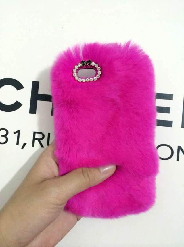 new concept e21f4 9a04d Rose Color Rabbit Fur IPhone Case-iPhone 6s Rabbit Furry Covers-iPhone 5s  Case-Cute IPhone 4s IPhone 6s Plus Covers IPhone 6 Case