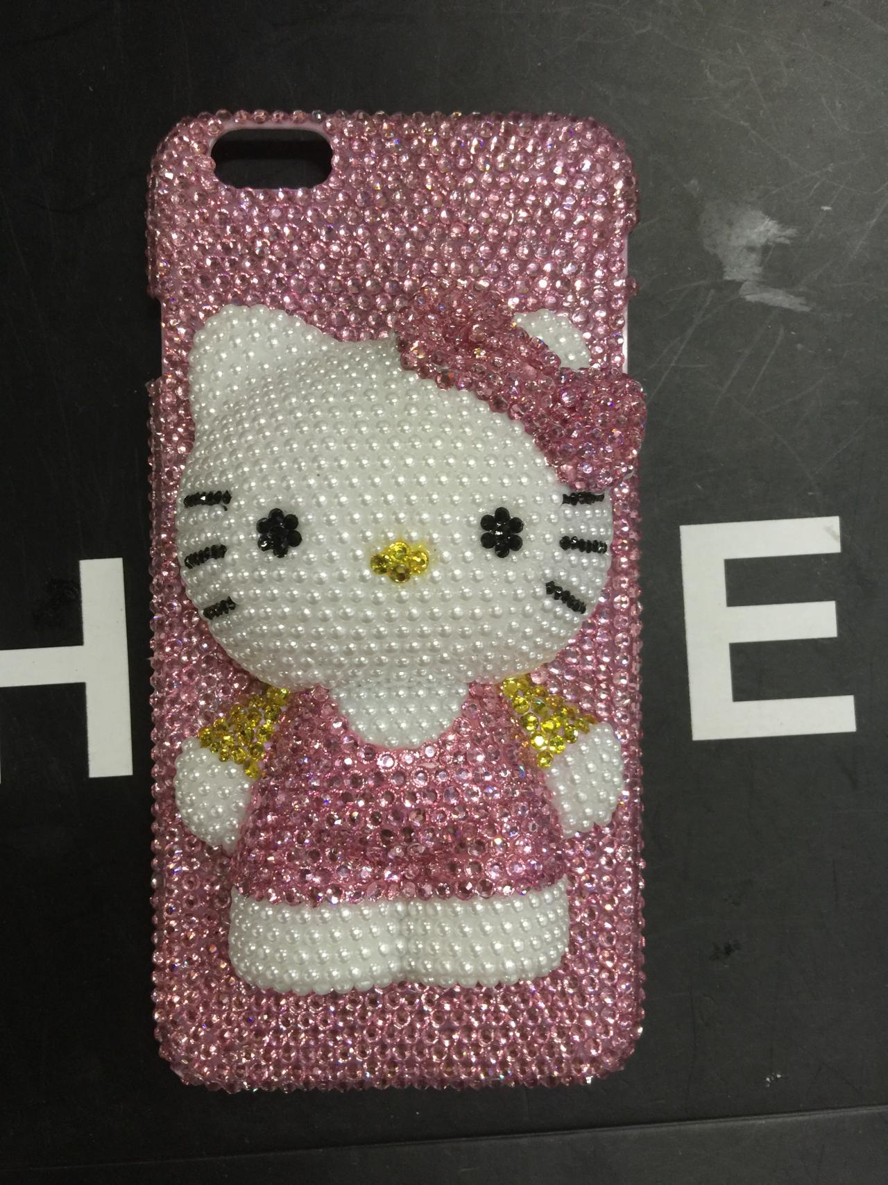 22b1c595ebf6 hello kitty iPhone 6 Case AB swarovski crystal pink rhinestone iPhone 6s  Case