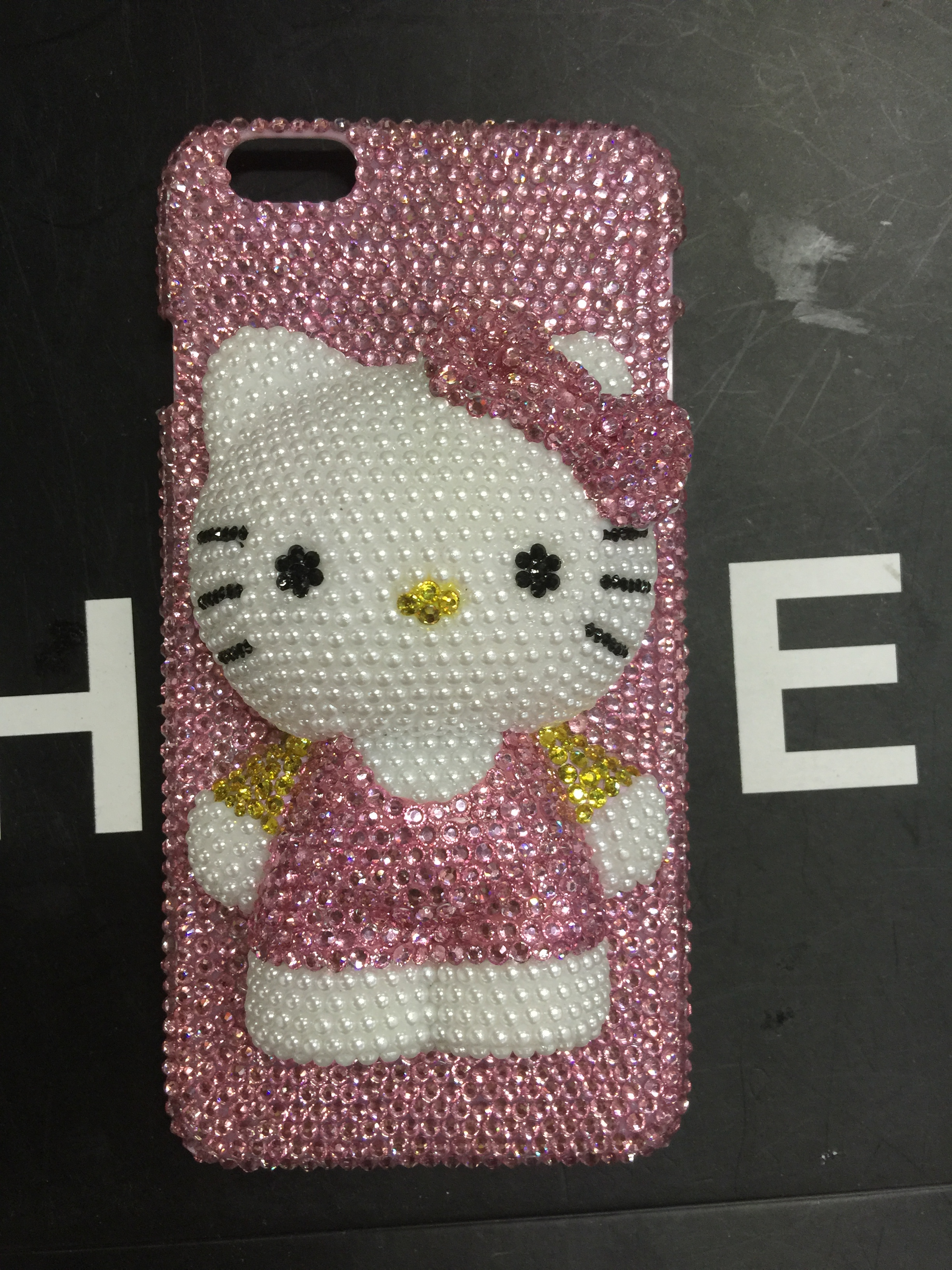 hello kitty iPhone 6 Case AB swarovski crystal pink rhinestone iPhone 6s  Case b210a1d64